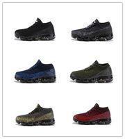 tn ups al por mayor-Nike Air Vapormax 2018 Lace Up 2018 Kids running shoes Triple Black Grey white Purple Infant Children toddler Run zapatillas de deporte boy girl tn sneakers