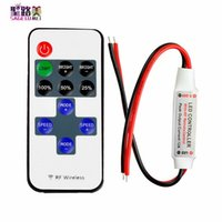 Wholesale remote dimmer color resale online - Mini LED Controller Dimmer with Key RF Wireless Remote Control DC V A for Single Color LED Strip Lights tape