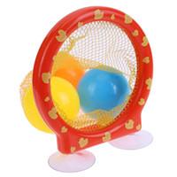 ingrosso giocattolo palla da bagno-Bambini che bagnano giocando giocattolo Bagno Vasca da bagno Balls Fun Net Pocket palline colorate Baby Shower Funny Toy Per ChrismasBirthday Gift
