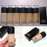 Wholesale fix fluid foundation for sale - Group buy Top Quality Makeup Foundation STUDIO FIX FLUID SPF15 Foundation NC NW colors Liquid ML color DHL Shipping