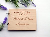 Wholesale arrow pens online - Wedding Guest Book Alternative With Cupid s Arrow Wedding Gift Rustic Engraved Guestbook Custom Advice Book Photo Album