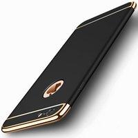 золото iphone s оптовых-Роскошный золотой жесткий чехол для iphone 7 6 6 S 5 5S SE 8 X задняя крышка съемный 3 в 1 Fundas чехол для iphone6 S 7 8 плюс сумка