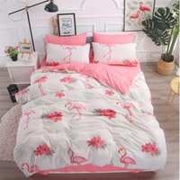 ingrosso copripiumino plaid blu-Set biancheria da letto Queen Size Pug Flamingo Copripiumino adulte Lenzuolo Matrimoniale King Plant Animal Plaid Endless Pink Strawberry Blue