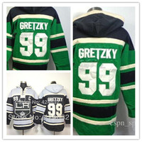 Wholesale Outlet Clothing - Factory Outlet, Los Angeles Kings 99 Wayne Gretzky Black C Patch Old Time Hockey LA Hoodie Hoodies Ice Hockey Clothes