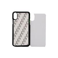 iphone aluminio pc al por mayor-10pcs al por menor 2D sublimación en blanco caja del teléfono dura de la PC para el iPhone Xs Xr Xs Max trasera de la cubierta con el envío libre de la hoja de aluminio