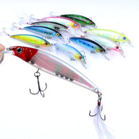 Wholesale bass feather fishing lures resale online - 10 Minnow Fishing Lures Bait Bass CrankBaits Tackle Feather Hook Topwater Minnow cm g Plastic Hard Fishing Lure