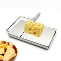 bolo de gadget de ferramentas venda por atacado-Hot Practical Cheese Slicer Aço Inoxidável Butter Cake Cutting Knife Cozinha Cozinha Tool Gadgets Acessórios