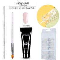 kits de gel de desenvolvimento uv venda por atacado-Prego Dicas Extensão Gel Nail Art UV Builder Gel Dicas Cola Manicure Set Kit