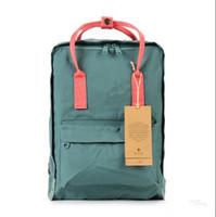 Wholesale laptops black red online - 2018 Luxury Couple Arrived children Waterproof travel laptop Mochila Classic Mini classic KanKen Backpack School Bag