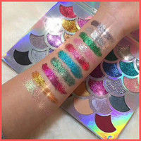 Wholesale Eyeshadow Palette Fashion Cosmetics - Factory Direct DHL Free Fashion Women Beauty Cleof Cosmetics The Mermaid Glitter Prism Palette 32colors Eyeshadow Palette Matte Shimmer