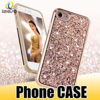 parlak cep telefonu kutuları toptan satış-S9 Lüks Telefon Kılıfı için Lüks Parlak Bling Geri Cep Telefonu Kılıfları Samsung Galaxy S9 Artı Glitter Kabuk
