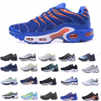 Wholesale purple lace material - 2018 Air TN Men Running Shoes Tns Nanotechnology KPU Material Classical Durable White Silver Mens Trainers Sports Sneakers Size 40-46