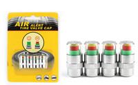 Wholesale Dodge Tire Pressure Sensors - LONGFENG LFCP2 Car Tire Pressure Monitor Valve Stem Caps Sensor Indicator 4pcs pressure30psi above