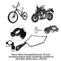 rückblick motorradspiegel großhandel-Motorrad Spiegel Motorrad Rückansicht Rückspiegel Universal Lenker Glas Spiegel für Motorrad Mountain Road Fahrrad