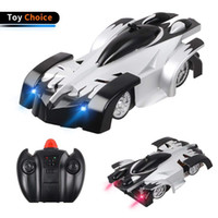 juguetes de coches de pared al por mayor-CZXXH RC Cars Escalada en pared Control remoto de coches Stunt Climber Sport Racing Cars Gravity Electric Toy (Negro)