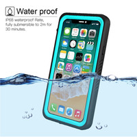 Wholesale water phone protector for sale – best 360 Full Protector for Apple iPhone X Case Clear Back Front Swimming Phone Cover for iPhonex Coque iPhone X Waterproof case