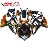 ingrosso oro k8-Carenatura completa nera per carenatura completa per Suzuki GSXR600-750 K8 2008 - 2010 Carenatura per motocicletta iniezione ABS