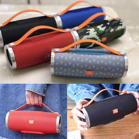 Wholesale protable mp3 player online - CHARGE Mini Bluetooth Speaker Protable With Handle Wireless TG109 Stereo Subwoofer HIFI Speakers Support TF USB Card AUX Mp3 Music Player