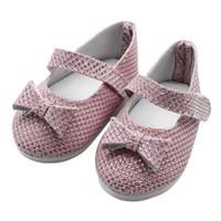 amerikanische puppenschuhe 18 großhandel-shaunyging # 4025 Glitter Doll Shoes Princess Schuhe für 18 Zoll Unsere Generation American Girl Doll