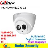 dahua hd großhandel-Dahua 4MP IP-Kamera IPC-HDW4431C-A-V2 ersetzen IPC-HDW4431C-POE IR30M H.265 Full HD Eingebaut-MIC CCTV-Kamera mehrere Sprachen