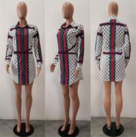 número do dia venda por atacado-Vestido das mulheres J1491 Número Impressão Camisa Saia Terno-vestido Maio A 11 Dia de Abastecimento Commodity