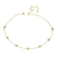 collar de sol de 925 al por mayor-Garantía de 925 joyas de plata esterlina de alta calidad linda sol encanto enlace cadena gargantilla clavícula mujeres elegancia collar