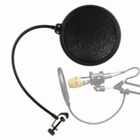 Microfono filtro da studio in miniatura Filtro da parabrezza Schermo anti-proiettile Cast Dual Dual Layer Maschera Anti Mic Metal Studio Pop Filter