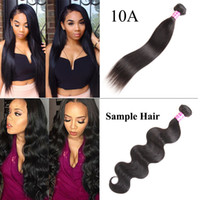 Wholesale sample hair bundles resale online - Brazilian Hair Body Wave And Straight Peruvian Hair Weaves Bundle Sample Order Remy Human Hair Extensions Natural Color g Just One Piece