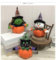 marketing do dia das bruxas venda por atacado-Atacado decoração de Halloween boneca home hotel mercado criativo enfeites de abóbora masquerade prop fontes do partido navio livre