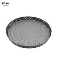 Wholesale metal round cake pan - 11 inch Pizza Plate Round Deep Non-stick Pan With Holes Send Dish Cake Dish West Baking Mold Metal Baking Pan