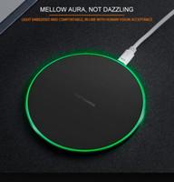 fre для iphone оптовых-Qi беспроводное зарядное устройство для зарядки для Samsung S6 Edge s7 edge s8 plus продажа iphone 8 X Fantasy High Efficiency pad с новым розничным packageKD-1 fre