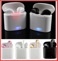 Wholesale Blackberry White Gold - I7 I7S TWS Twins Bluetooth Earbuds Mini Wireless Earphones Headset with Mic Stereo V4.2 Headphones for Iphone Android with Package