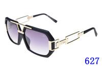 Wholesale big frame vintage eyeglasses - Sun glasses Eyewear 627 Luxury Polarized Vintage Mens Womens Aviator Sunglasses Brand Designer Oversized Big Frame Eyeglasses