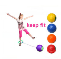 Wholesale houses inflatables - Funny one foot skip ball jump ball foot hula hoop skipping rope bouncing ball toy educational outdoor toy children exerciae gift