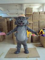 Wholesale wolf mascot custom - grey Wolf Mascot Costume Adult Character Costume mascot As fashion free shipping