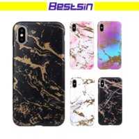 Wholesale apple matting - Bestsin Frosted Marble Design TPU Cover Case Matting Surface Cool New Defender phone Case For iphone 6 to X Free DHL Shipping