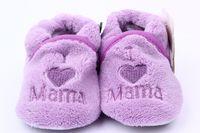 kleinkind jungen fleece großhandel-Mode Kinder Kleinkind Jungen Mädchen Baumwolle Korallen Fleece Rutschfeste Weiche Sohle Baby Schuhe 0-1Y