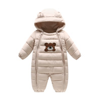 Wholesale thick rompers for sale - Group buy Baby Winter Rompers Thick Boys Girls Warm Infant Bear Snowsuit Kid Jumpsuit Children Outerwear Baby Wear months months