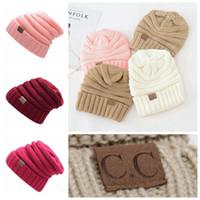Wholesale Hat Folding - Mens Winter Hats Woman warm Hat Designer CC Hats Cute Girls Beanie Outdoors Cap 2018 Fashion Hat CC Brand Folds Casual Hats