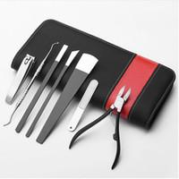 fußpflege kits großhandel-7pcs Professional Pedicure Knife Set Nagelpflege Nagelhautentferner Fuß Reparatur Sharp Blade Kit für eingewachsenen Nagel Corn Callus