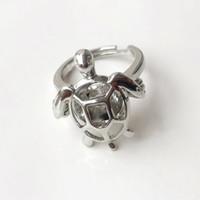 anneaux de cage achat en gros de-{Cage Ring} Peut s'ouvrir et tenir 8mm Perle / Cristal / Perle Anneau Cage Montage, 18kgp Taille Anneau Tortue