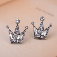 Wholesale rhinestone crown brooch resale online - Crystal Crown Brooch Pins For Women Mens Shirt Collar Accessories Small Size Rhinestone Lapel Pins Badge Fashion Jewelry Min