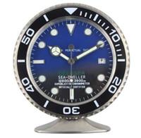 nouvelles horloges modernes achat en gros de-Nouvelle Arrivée Montre Sape Horloge De Table En Métal De Luxe Horloge Murale Avec Des Caractéristiques Rougeoyantes En Métal Art Horloge Design Moderne Avec Logo