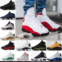 Wholesale Woman Love Drops - 2018 13 XIII Mens Basketball Shoes GS Love Respect Black white DMP All Star Chutney Low 13s Green Women Sneakers Drop Shipping US5.5-13