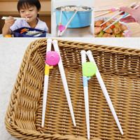 plastik çubuklar toptan satış-Yeni Chopsticks Bebek Eğitimi Chopstick filtreler içten Plastik Bebek Egzersiz Eğitimi Chopstick Karikatür Çocuk Öğrenme Chopstick HH7-1149
