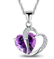 ingrosso gioielli della coclea-Il ciondolo a forma di cuore ciondolo ciondolo collana La nuova moda donna ciondolo catena maglione gioielli in stile caldo lega