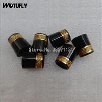 ferrolhos venda por atacado-Motorista WOTUFLY Gold Flash Golf Ferro Ferrules com o dobro Anéis Dimensões 0,330-0,370