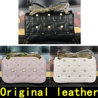 Wholesale cowhide handbags embroidery resale online - Pearl decoration Marmont bag Luxury Handbags high quality Famous Brands Designer Handbags Original Cowhide genuine leather come with BOX