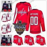 Wholesale Capital Names - Custom Washington Capitals Hockey Jerseys Stitched Any Number Name Customized 2018 Stadium Series Navy Red White 8 Ovechkin Oshie Caps S-60