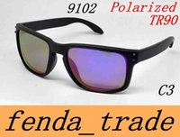 Wholesale Multi Color Pictures - TR90 Picture frame 2017 NEW man women brand sunglasses Designer design 9102 High quality polarizedlens sunglasses color11 MOQ=10